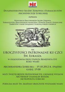 Zaproszenie na 19 października do Archikatedry...